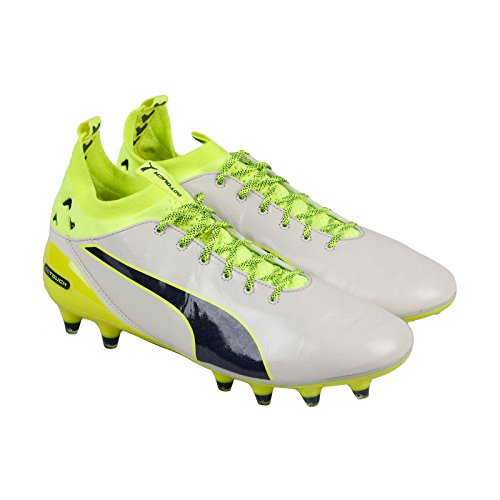 Men Pro Soccer (PUMA Evotouch Pro Special Edtion FG Mens White Leather Athletic Soccer Cleats 9.5)