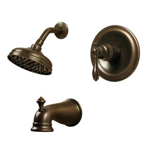 Pegasus 874W 1296H Heritage Bronze Estates WaterSense 1 Handle Tub and Shower  Faucet. Car Auto Parts