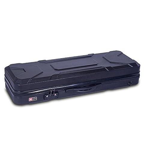 Crossrock CRA400VFBK 4/4 Full Size Violin Case, Zippered ABS Molded Backpack Style in Black (Violin Case 4 4 Hard)