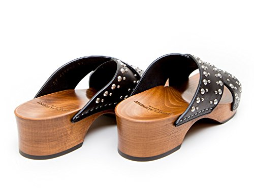 Saint Laurent Mujer 419005BZI001000 Negro Cuero Sandalias
