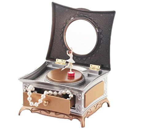 Healthcom Musical Jewelry Storage with 1 Pullout Drawer,Classical Music Box, Graceful Ballet Dancing Girl by Healthcom