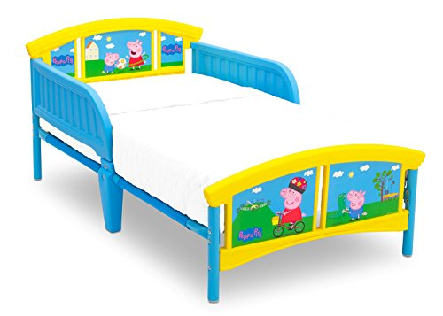 Delta Children Plastic Toddler Bed, Peppa Pig (Colorful Crib Bedding)