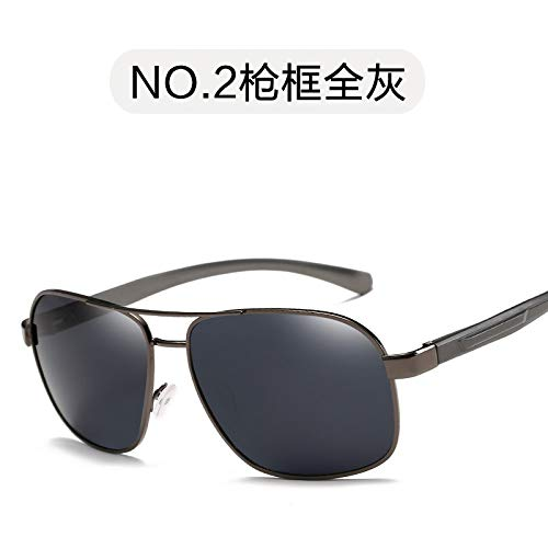 Personalizado de Gafas polarizadas Lleno gray de Espejo Gafas de clásico frame Pesca polarizado Gris Sol Espejo para Marco full conducción Burenqiq Sol Plata de de Exterior Gun Hombre de Hombre vSAd7wnnqx