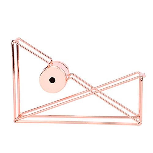 (Gbell Rose Gold Metal Tape Cutter Tape Dispenser Tape Holder Life School Office Stationery (Rose Gold))