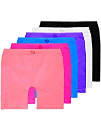 Girls Dance, Bike Shorts 6, 12 Value Packs - For Sports, Play or Under Skirts