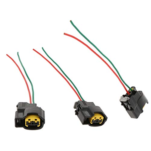 F Fityle Ignition Coil Connector Plug Wire Harness Pigtail Wiring Loom 2-way - 3pcs: