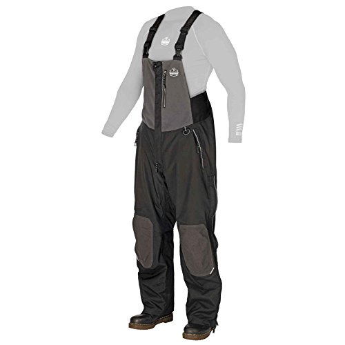 N-Ferno 6470 Men's Outer Layer Thermal Bib Overalls with Removable Knee/Shin Pads, Medium Cotton Duck Bib Apron