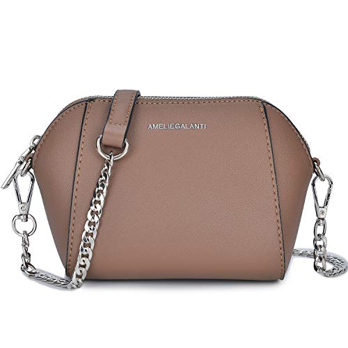 Crossbody Bags for Women, Lightweight Purses and Handbags Small Shoulder Bag Fashion Satchel with Metal Chain Strap Taupe