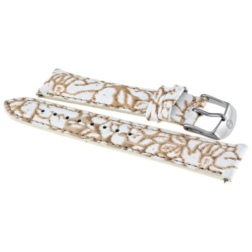 Michele 18 Mm Neutral Floral Fashion Patent Ms18aa350976 Strap