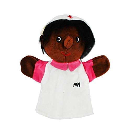 Nurse Black Puppet (Get Ready Kids MTB464 Nurse Puppet, 4