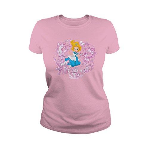 - Women's Alice in Wonderland T-Shirt (XL, Light Pink)