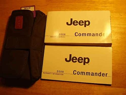 2008 jeep commander owners manual jeep amazon com books rh amazon com jeep commander owners manual 2006 jeep commander owners manual 2007