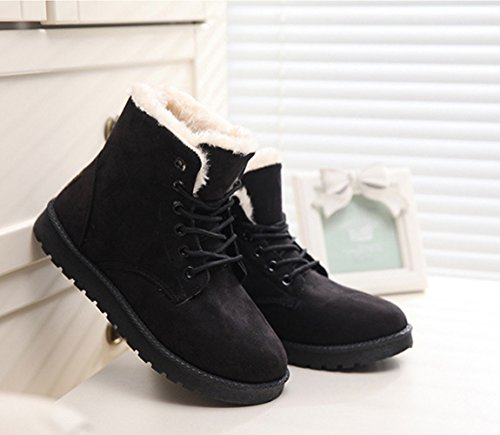 Summer Black up Winter Womens Snow Lace Boots Short Warm Boots Another Ankle qg1wPdAq