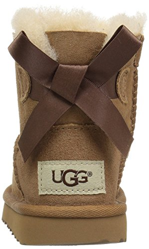 UGG Girls T Mini Bailey Bow II Pull-On Boot, Chestnut, 10 M US Toddler by UGG (Image #2)