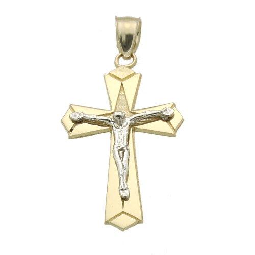 Petits Merveilles D'amour - pendentif Religieux - Deux Tons Or 585/1000 (14ct)
