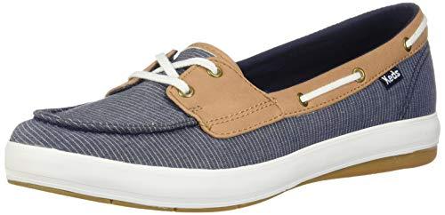 Keds Women's Charter Chalk Stripe Sneaker, Navy, 6.5