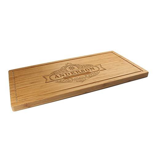 BambooMN Custom Laser Engraved Bamboo Cutting Board - Restaurant-Style Sign - 24