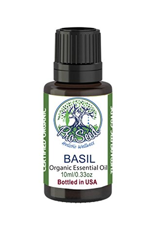 ProSeed Organic Basil Essential Oil | Steam Distilled from Ociumum basilicum | 15ml / 0.5oz by ProSeed Holistic Wellness