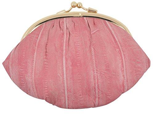 Eel Skin Purse (NEW WATERPROOF EEL SKIN LARGE DOUBLE COIN CHANGE PURSE WALLET (Pink))