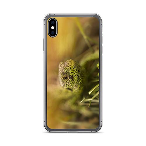 iPhone Xs Max Case Anti-Scratch Creature Animal Transparent Cases Cover Green Lizard Animals Fauna Crystal Clear]()