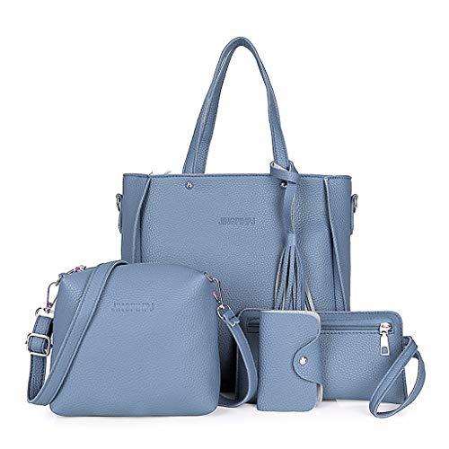 Bandoulière Main Besace Kimruida 4pcs Sacs De Femmes tout Blue Fourre Sac À Mode pq0F1Sgq