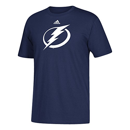 (NHL Tampa Bay Lightning Adult Primary Logo Stand Out S/Tee, Large, Dark Blue )