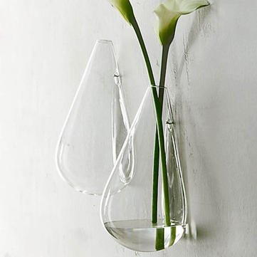 Hydroponic Glass Vase Glass Vase Plant Wall Mounted Water Drop