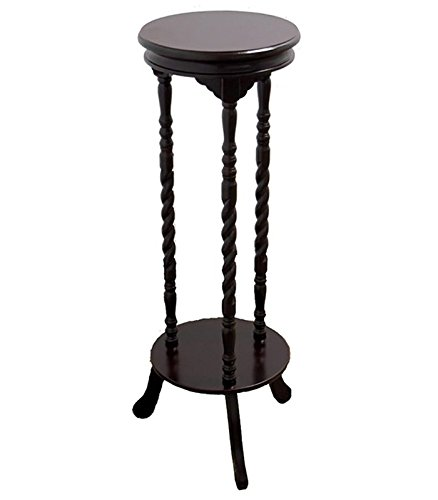 ORE International N138-WALNUT Walnut Finish Indoor Plant Stand For Sale