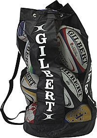 New Gilbert Rugby Sports Storage Bag Holdall Breathable 12 Ball Carry Sacks
