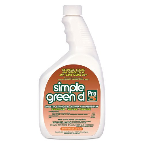 Simple Green - D Pro 3 One-Step Germicidal Cleaner/Deodorant 32 Oz Bottle W/Childproof Cap