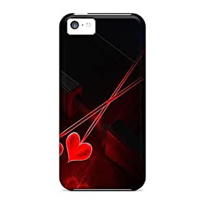 Faddish Phone Heart Arrows Cases For Iphone 5c / Perfect Cases Covers