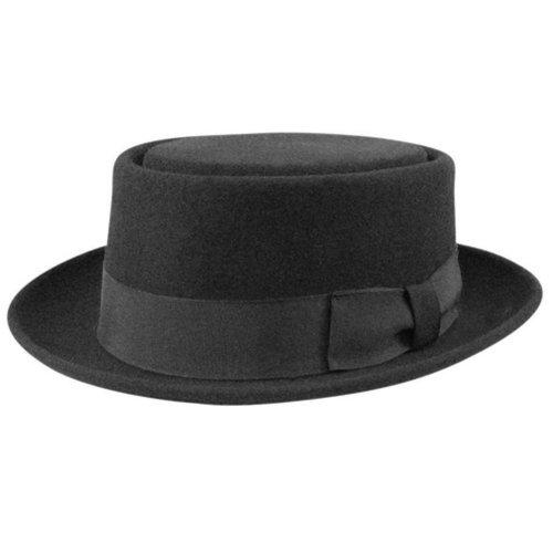 Bollman Hat Company Men 1940S Bollman Collection Pork Pie Black M by Unknown