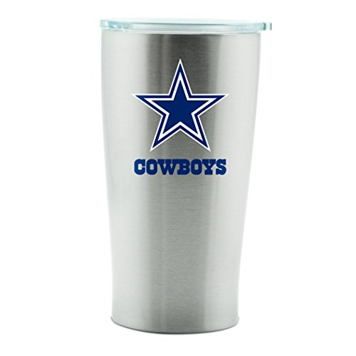 NFL Dallas Cowboys 14oz Double Wall Stainless Steel Thermo Cup with Lid