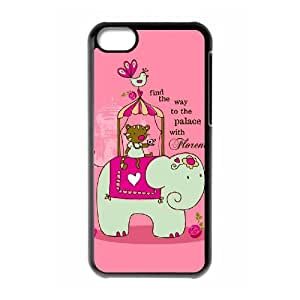 YCHZH Phone case Of Cute elephant Cover Case For Iphone 5C