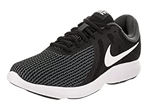 Nike Mens Revolution 4 Running Shoe (10 D(M) US, Black/White/Anthracite)