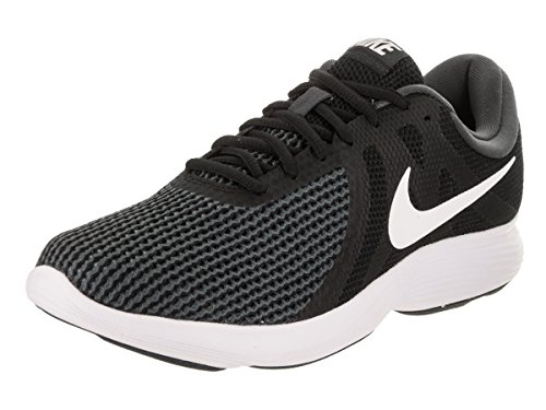 NIKE Mens Revolution 4 Black/White Anthracite Running Shoe 9.5 Men US