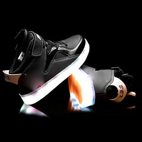 7 Farben blinken USB-Ladesportschuhe der Spinne Kinder Freizeitschuhe leuchtende Schuhe Größe: 28 EU Jugend