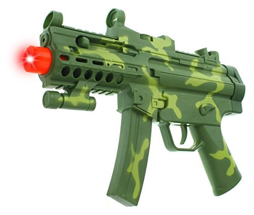 Real Sound & Light Vibrating Pretend Play Rifle Gun Toy For Children Baby Gear