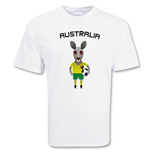 労働責めるフレキシブルAustralia Mascot Soccer T-shirt