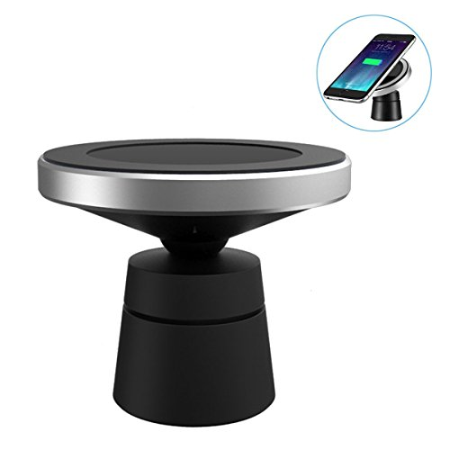 Wireless Car Charger, Newgam Qi Magnetic Wireless Car Charging for iPhone X 8 8 Plus Samsung Galaxy Note 8 S8 Plus S7 S6 Edge Note 5 and all Qi-enabled devices ¡