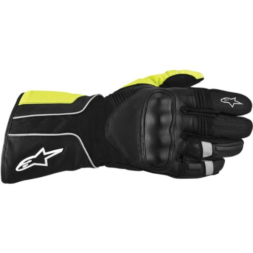 Alpinestars Overland Drystar Gloves , Gender: Mens/Unisex, Distinct Name: Black/Yellow, Primary Color: Black, Size: 3XL, Apparel Material: Textile 3525513-1015-3X