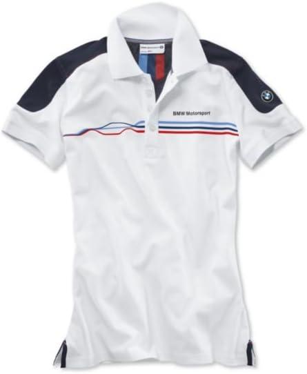 BMW Polo Fan Motorsport de mujer, Bianco/Team Blue, L: Amazon.es ...