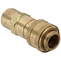 """Dixon DCB10 Brass Air Chief Industrial Interchange Quick-Connect Air Hose Fitting, 1/2"""" Coupling x 1/2"""" NPT Female"""