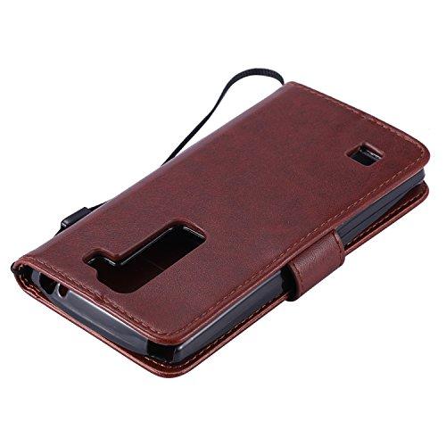 OuDu Funda LG Spirit 4G LTE H440N/C70 Carcasa de Billetera Funda PU Cuero para LG Spirit 4G LTE H440N/C70 Carcasa Suave protector con Correas de Teléfono Funda Arbol Flip Wallet Case Cover Bumper Carc