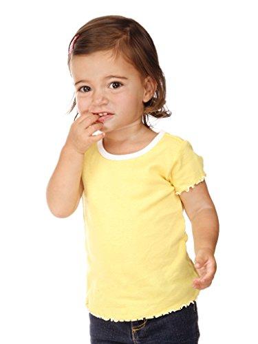 Kavio Infants Contrast Lettuce Edge Short Sleeve