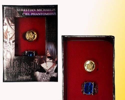 Topbill Japanese Anime Kuroshitsuji Black Butler Cosplay Accessories Ring (B)