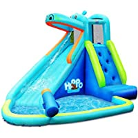 Deals on Hippo Inflatable Water Slide Bounce House with Air Blower