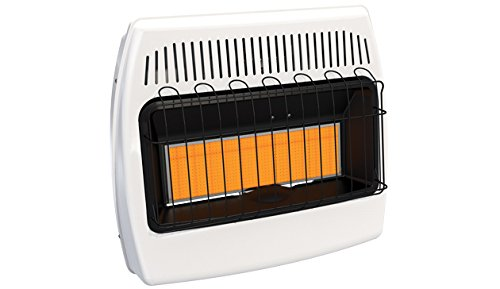 HeathRite Vent-Free Radiant Heater Natural Gas 30000 BTU, Manual Control - Gas Manual Vent