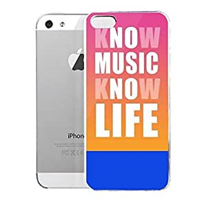Light weight with strong PC plastic case for iPhone iphone 5c Lifestyle Music Know Music Know Life