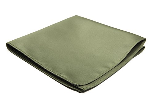 Jacob Alexander Men's Pocket Square Solid Color Handkerchief - Olive Pocket Square Olive